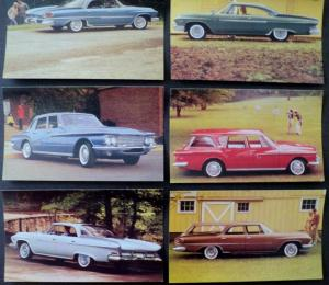 NOS Mopar 1961 Dodge Post Cards  Dart Phoenix Pioneer Polara Lancer Set of 6