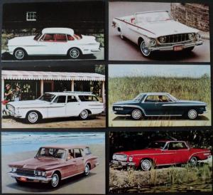 NOS Mopar 1962 Dodge Post Cards Polara 500 Lancer GT 770 Dart 440 Set of 6