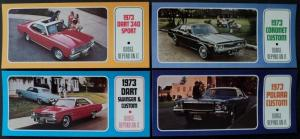 NOS Mopar 1973 Dodge Post Cards Polara Coronet Dart Set of 4