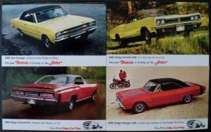 NOS Mopar 1969 Dodge Scat Pack Post Cards Dart Swinger Coronet RT Set of 4