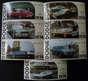 NOS 1974 Dodge Post Cards Dart Coronet Charger Monaco Set of 7