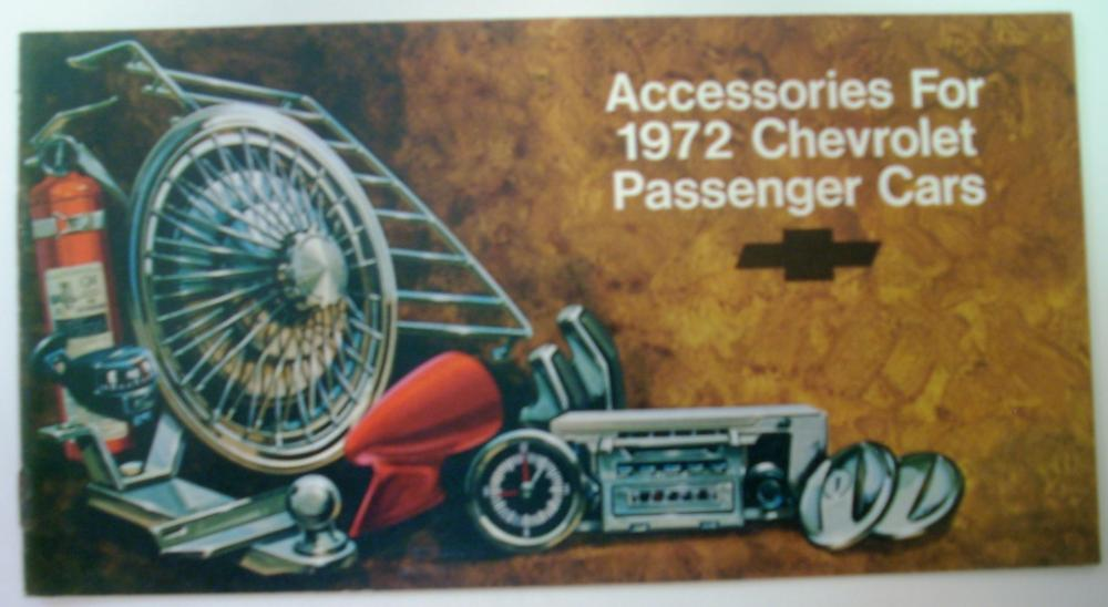 1972 Chevrolet Accessories Brochure Passenger Car Camaro