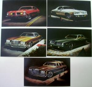 NOS 1974 Pontiac Post Cards Grand AM Safari GTO Grand Ville Set of 5