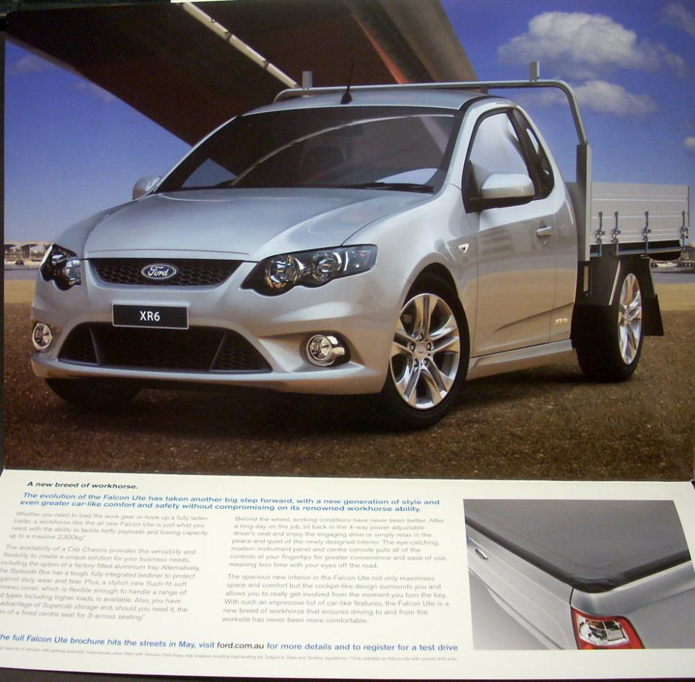 2008 Ford Falcon Ute Australian Market Right Hand Drive Sales Brochure Ba Wiring Diagram