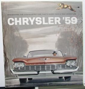 1959 Chrysler New Yorker Saratoga Windsor Prestige Sales Brochure XL