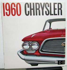 1960 Chrysler New Yorker Saratoga Windsor Prestige Sales Brochure XL Large Rare