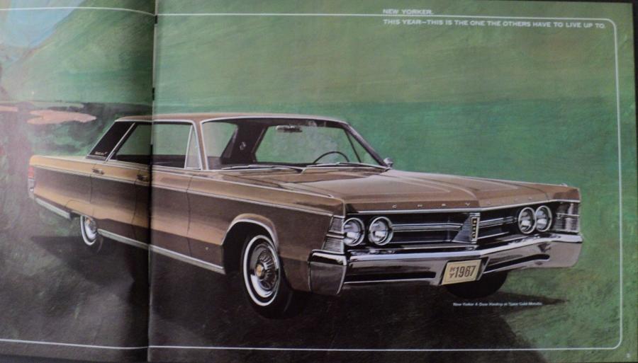 NOS 1967 Chrsyler XL Sales Brochure New Yorker Town & Country 300