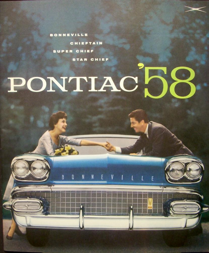 1958 Pontiac Bonneville Chieftain Super Star Chief Sales Brochure Nos 1950