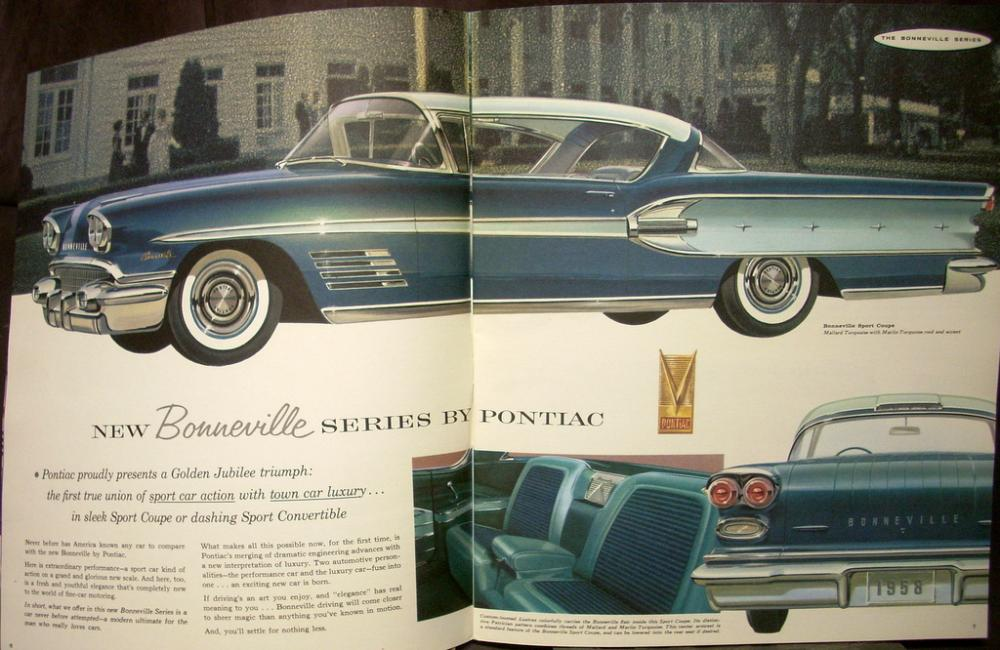 1958 Pontiac Bonneville Chieftain Super Star Chief Sales