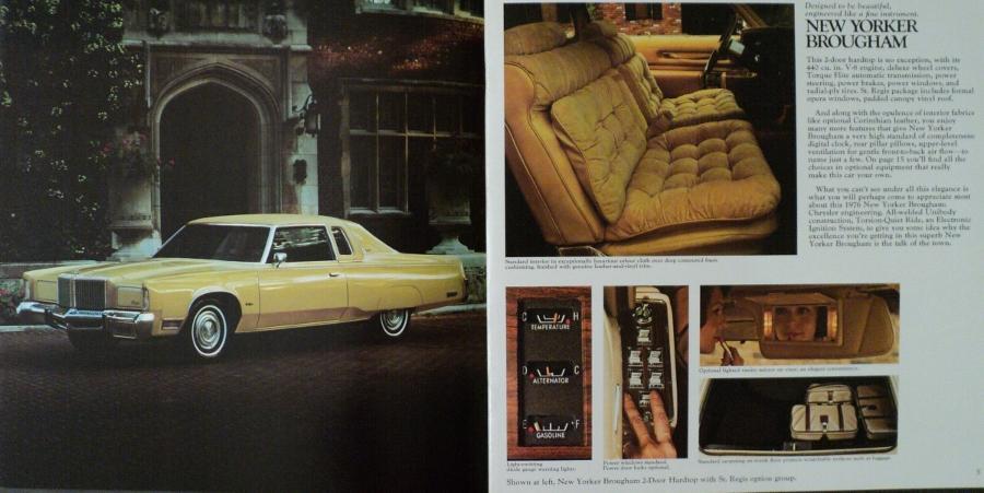 1976 Chrysler New Yorker Brougham Newport Town /& Country Dealer Sales Brochure
