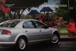 2003 Chrysler Sebring Sedan Color Dealer Sales Brochure