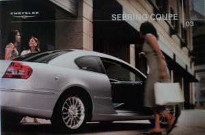 2003 Chrysler Sebring Coupe Color Dealer Sales Brochure