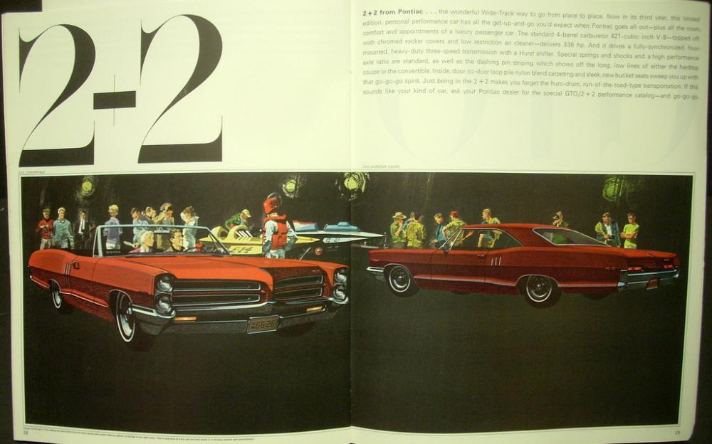 1966 Pontiac Sales Brochure Bonneville Grand Prix 2 2 Gto