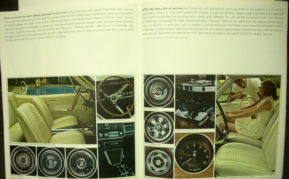 1966 Pontiac Sales Brochure Bonneville Grand Prix 2 2 Gto Catalina Star Chief