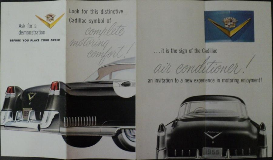 1955 Cadillac Original Color Sales Brochure Featuring