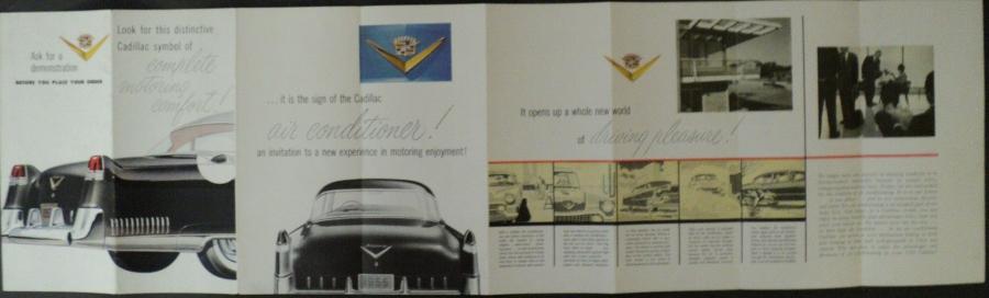 1955 Cadillac Original Color Sales Brochure Featuring