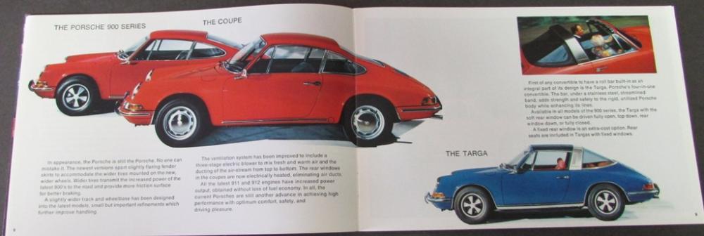 Vintage Porsche Fact Book Brochure 1968? European Advertising