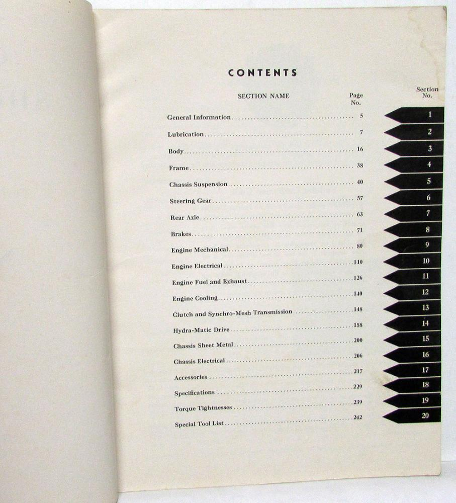 1950 Cadillac Service Shop Manual 50 61 62 60s 75 86 Commercial Cars Wiring Diagram