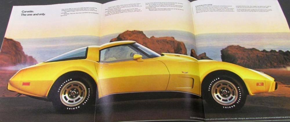 Original 1979 Chevrolet Corvette Dealer Sales Brochure
