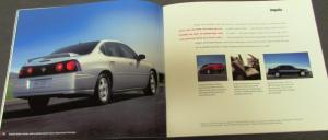 2005 Chevrolet Dealer Prestige Brochure Full Line Car Truck Corvette Monte Carlo