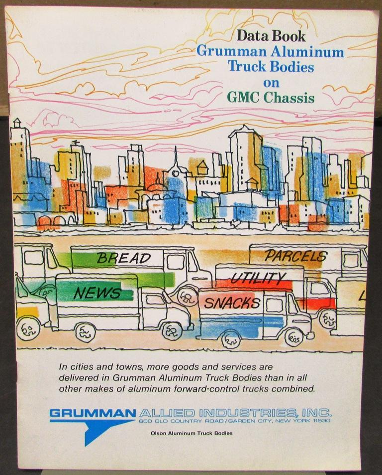 Original 1980's Grumman Aluminum Truck Bodies Data Book GMC Chassis