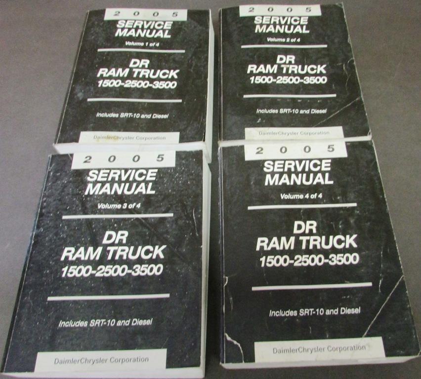 2005 dodge ram truck dealer shop service manual set 1500 2500 3500 rh autopaper com 2005 dodge ram 2500 factory service manual 2005 dodge ram 2500 5.9 cummins service manual