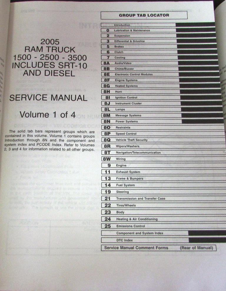 2005 dodge cummins service manual