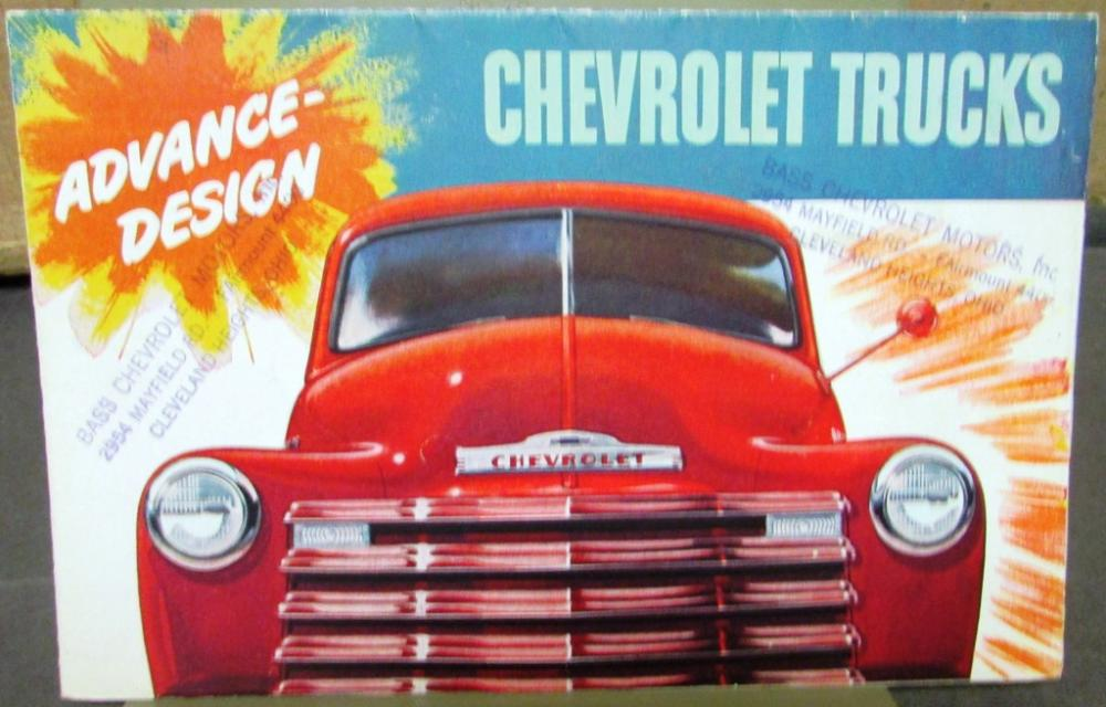 Original 1948 Chevrolet Truck Dealer Color Sales Brochure ...