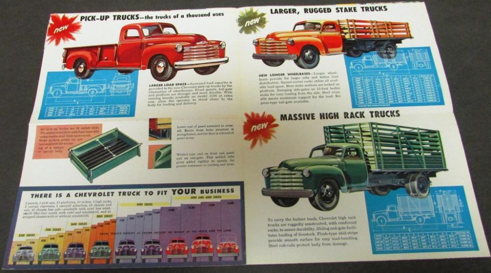 Original 1948 Chevrolet Truck Dealer Color Sales Brochure