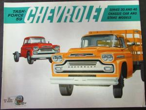 1959 Chevrolet Truck Cassis Cab & Stake Series 30 & 40 Sales Brochure Original