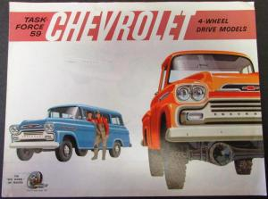 1959 Chevrolet Truck Dealer Folder Series 4-Wheel Drive Models Original