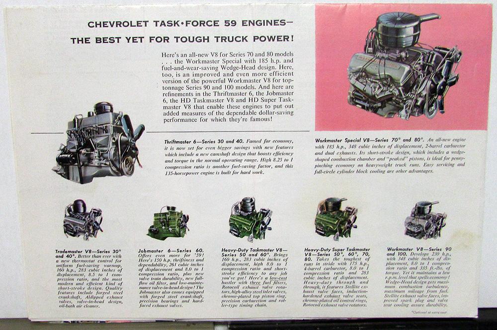 Original 1959 Chevrolet Truck Dealer Brochure Apache El Camino
