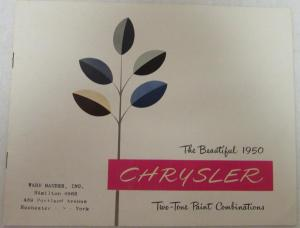 1950 Chrysler Paint Combination Sales Brochure Royal Windsor Saratoga New Yorker