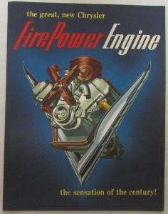 1951 Chrysler Fire Power Engine Sales Brochure