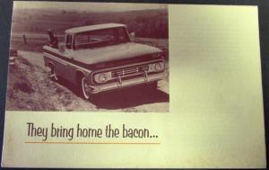 1962 Chevrolet Truck Pickup Corvair 95 Suburban Work Play Sales Mailer Folder