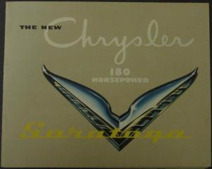 NOS 1951 Chrsyler Saratoga 180 Horsepower Original Color Sales Brochure