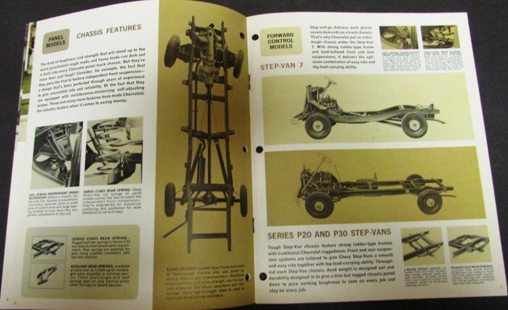 Original 1965 Chevrolet Truck Dealer Sales Brochure Panel
