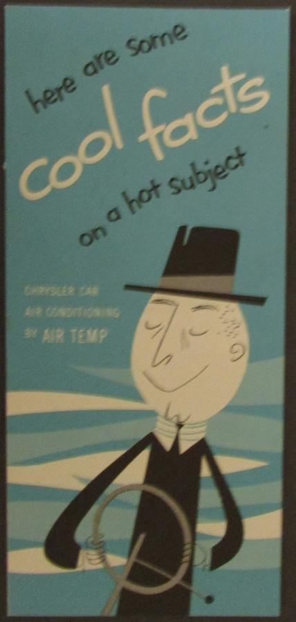 1952 1953 Chrysler Air Temp Air Conditioning Sales Brochure Leaflet NOS Original