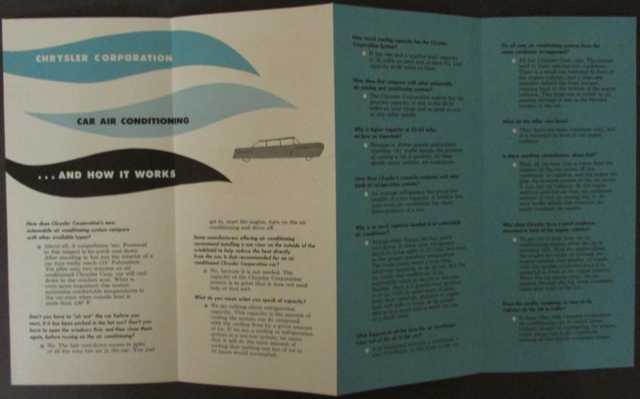 1952 1953 Chrysler Air Temp Air Conditioning Sales