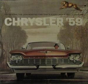 1959 Chrysler Color Original Sales Brochure New Yorker Saratoga Windsor