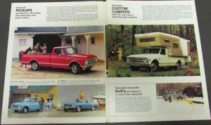 1968 Chevrolet Job Tamer Trucks Sales Brochure Full Line Gas Diesel Original