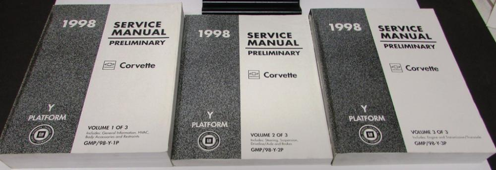 original 1998 chevrolet corvette c5 shop service repair manual rh autopaper com 1998 corvette repair manual pdf 2005 Corvette