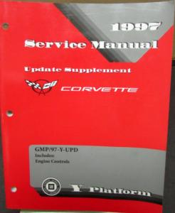 Original 1997 Chevrolet Corvette Shop Service Repair Manual Update Supplement
