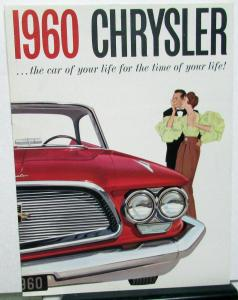 1960 Chrysler Windsor Saratoga New Yorker Color Sales Brochure Reg Size