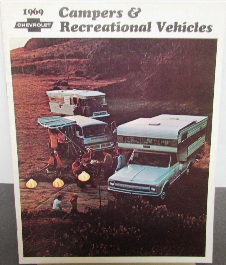 1969 Chevrolet Camper & RV Trucks Longhorn Pickup Van CS CE 10 20 Sales Brochure