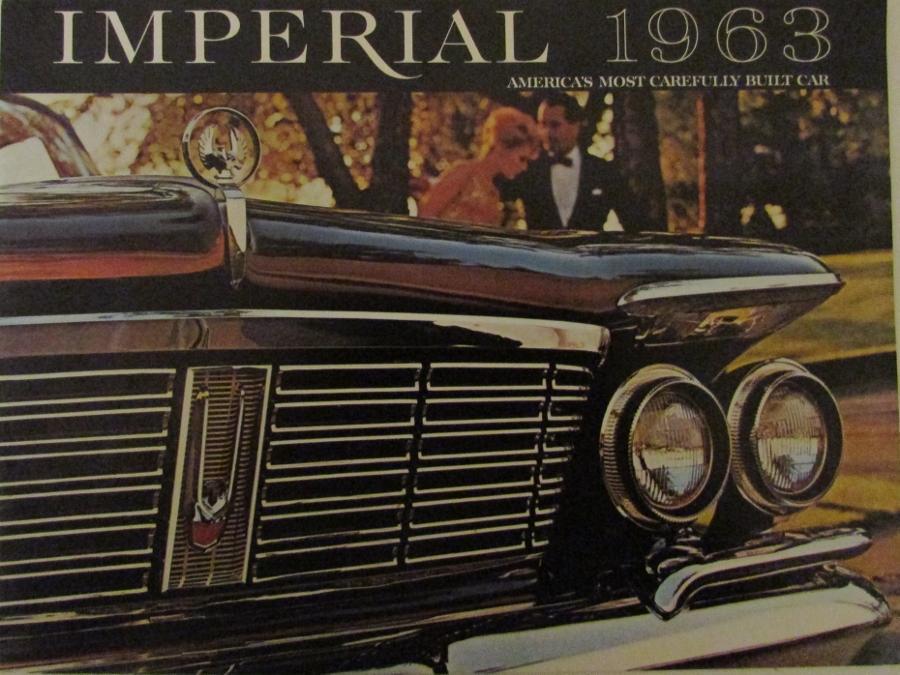 1963 Chrysler Imperial Custom Crown Lebaron Color Original Sales Brochure 279d09fe3