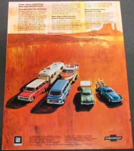 Original 1972 Chevrolet Dealer Sales Brochure Trailering Guide Camper