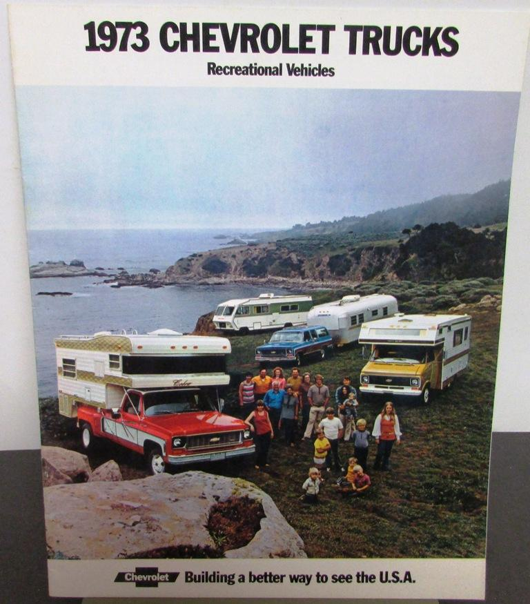 Original 1973 Chevrolet Truck Dealer Brochure Pickup Rv