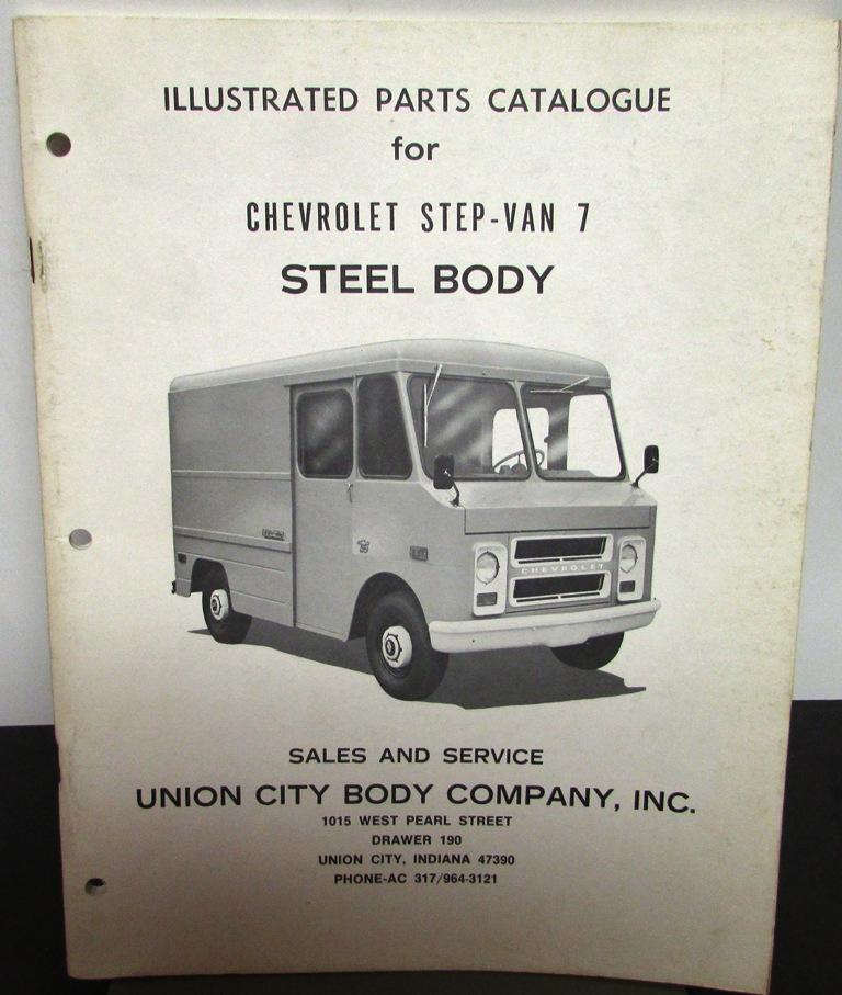 Original 1973 Chevrolet Truck Dealer Brochure Parts Catalog Step Van