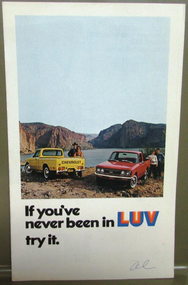 Original 1974 Chevrolet Truck Dealer Brochure Chevy Luv Pickup